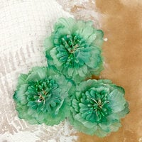 Prima - Lifetime Collection - Fabric Flower Embellishments - Green