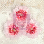Prima - Lyric Collection - Fabric Flower Embellishments - Pink