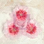 Prima - Lyric Collection - Fabric Flower Embellishments - Pink
