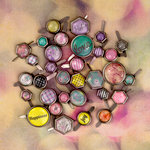 Prima - Hello Pastel Collection - Metal Brads