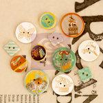 Prima - Lady Bird - Wood Embellishments - Buttons