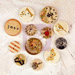 Prima - Lyric - Wood Embellishments - Buttons
