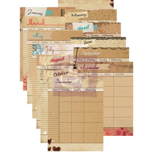 Prima - Mixed Media Album - Calendar Refill