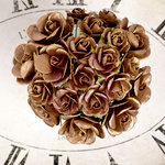 Prima - Sunrise Sunset Collection - Paper Mini Roses - Gold