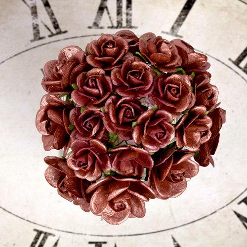 Prima - Sunrise Sunset Collection - Paper Mini Roses - Copper