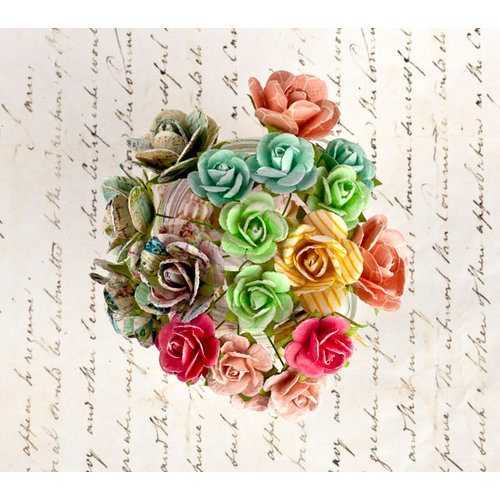 Prima - Divine Collection - Flower Embellishments - Mini Rose Stems