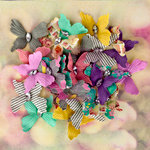 Prima - Hello Pastel Collection - Flower Embellishments - Butterflies