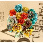 Prima - Lady Bird Collection - Flower Embellishments - Mini Rose Stems