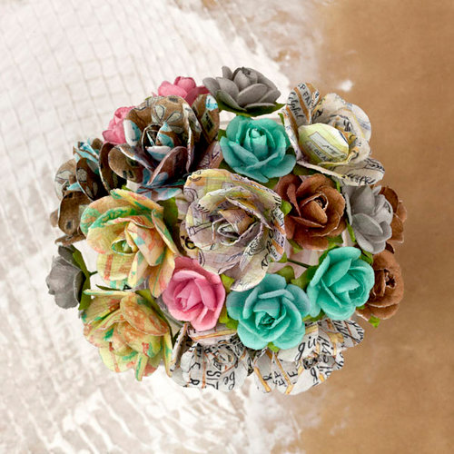 Prima - Lifetime Collection - Flower Embellishments - Mini Rose Stems
