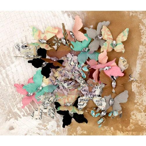 Prima - Lifetime Collection - Flower Embellishments - Butterflies