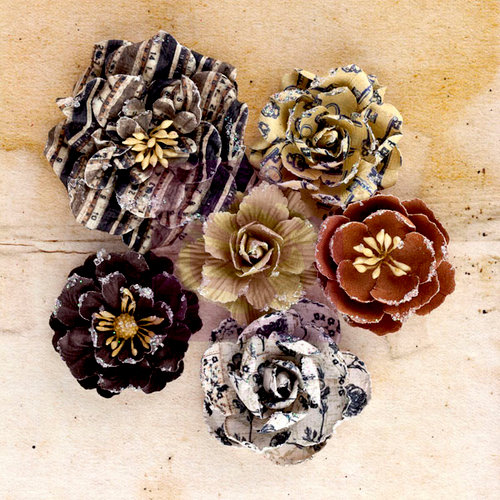 Prima - Engraver Collection - Flower Embellishments - Roses