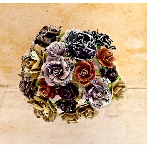 Prima - Engraver Collection - Flower Embellishments - Mini Rose Stems