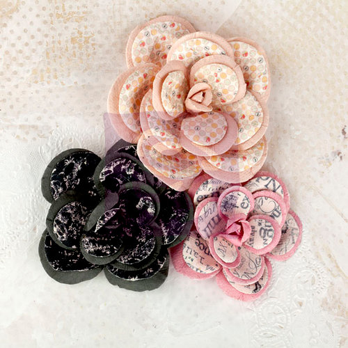 Prima - Lyric Collection - Flower Embellishments - Large Flowers