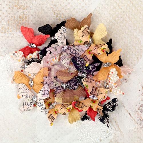 Prima - Lyric Collection - Flower Embellishments - Butterflies