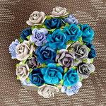 Prima - Mini Sachet Collection - Flower Embellishments - Surf