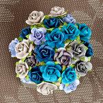 Prima - Mini Sachet Collection - Flower Embellishments - Surf