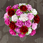 Prima - Mini Sachet Collection - Flower Embellishments - Rose