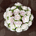 Prima - Mini Sachet Collection - Flower Embellishments - Pearl