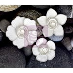 Prima - Queen Mary Collection - Flower Embellishments - White