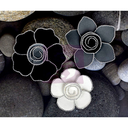 Prima - Queen Mary Collection - Flower Embellishments - Smoke
