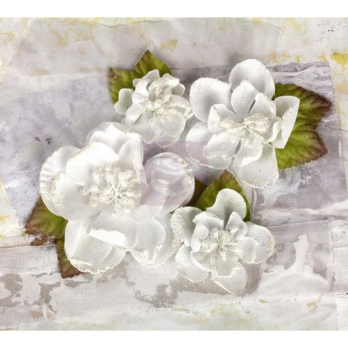 Prima - Tatiana Collection - Flower Embellishments - White
