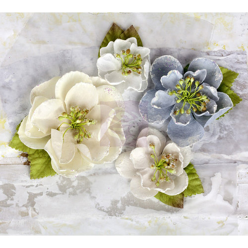 Prima - Tatiana Collection - Flower Embellishments - Icicle