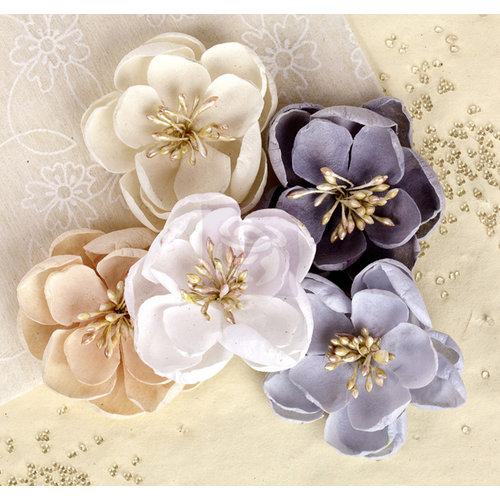 Prima - Giselle Collection - Flower Embellishments - Haze