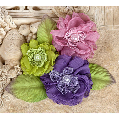 Prima - Paquita Collection - Flower Embellishments - Meadow