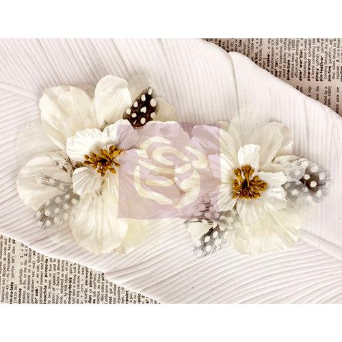 Prima - Firebird Collection - Flower Embellishments - White