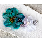 Prima - Firebird Collection - Flower Embellishments - Teal
