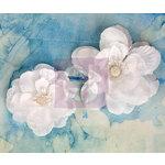 Prima - Odette Collection - Flower Embellishments - White