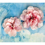 Prima - Odette Collection - Flower Embellishments - Cherry Frost