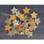 Prima - Natural Bark Icons - Wood Embellishments - Stars