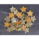 Prima - Natural Bark Icons - Wood Embellishments - Stars