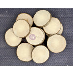 Prima - Natural Bark - Wood Embellishments - Round