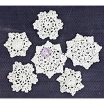 Prima - Fabric Embellishments - Crochet Doily - Round