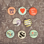 Prima - School Memories Collection - Flair Buttons