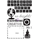 Prima - School Memories Collection - Cling Mounted Rubber Stamps