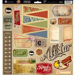 Prima - Allstar Collection - 12 x 12 Self Adhesive Chipboard Pieces