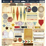 Prima - Allstar Collection - 12 x 12 Cardstock Stickers - Journaling Spot