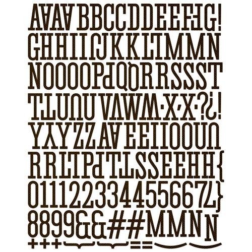 Prima - Canvas Alphabet Stickers - Large - Black