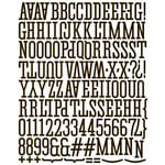 Prima - Canvas Alphabet Stickers - Large - Black