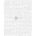 Prima - Canvas Alphabet Stickers - Large - White