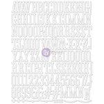 Prima - Canvas Alphabet Stickers - Large - White