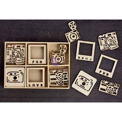 Prima - Wood Icons in a Box - Cameras