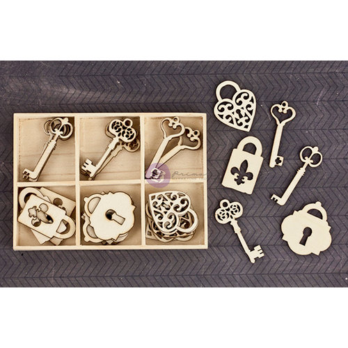 Prima - Wood Icons in a Box - Keys