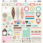 Prima - Anna Marie Collection - 12 x 12 Cardstock Stickers - Journaling Spot
