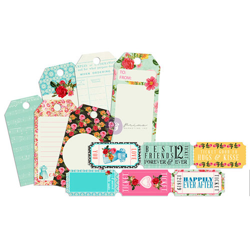 Prima - Anna Marie Collection - Tag Me - Ticket and Tag Set
