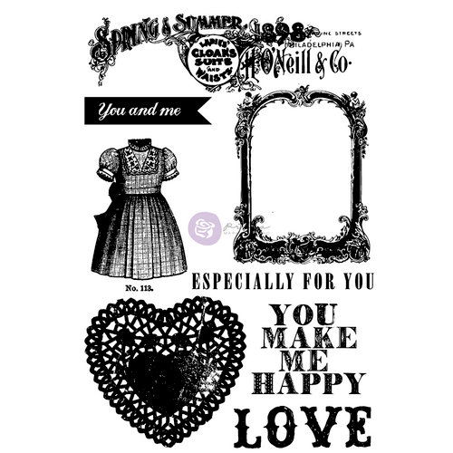 Prima - Anna Marie Collection - Cling Mounted Rubber Stamps