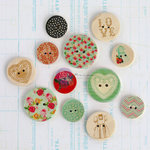 Prima - Anna Marie Collection - Wood Embellishments - Buttons
